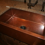 R_Apron Front Sink Bowl Copper Kitchen Sink