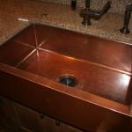 R_Apron Front Sink Bowl Copper Kitchen Sink