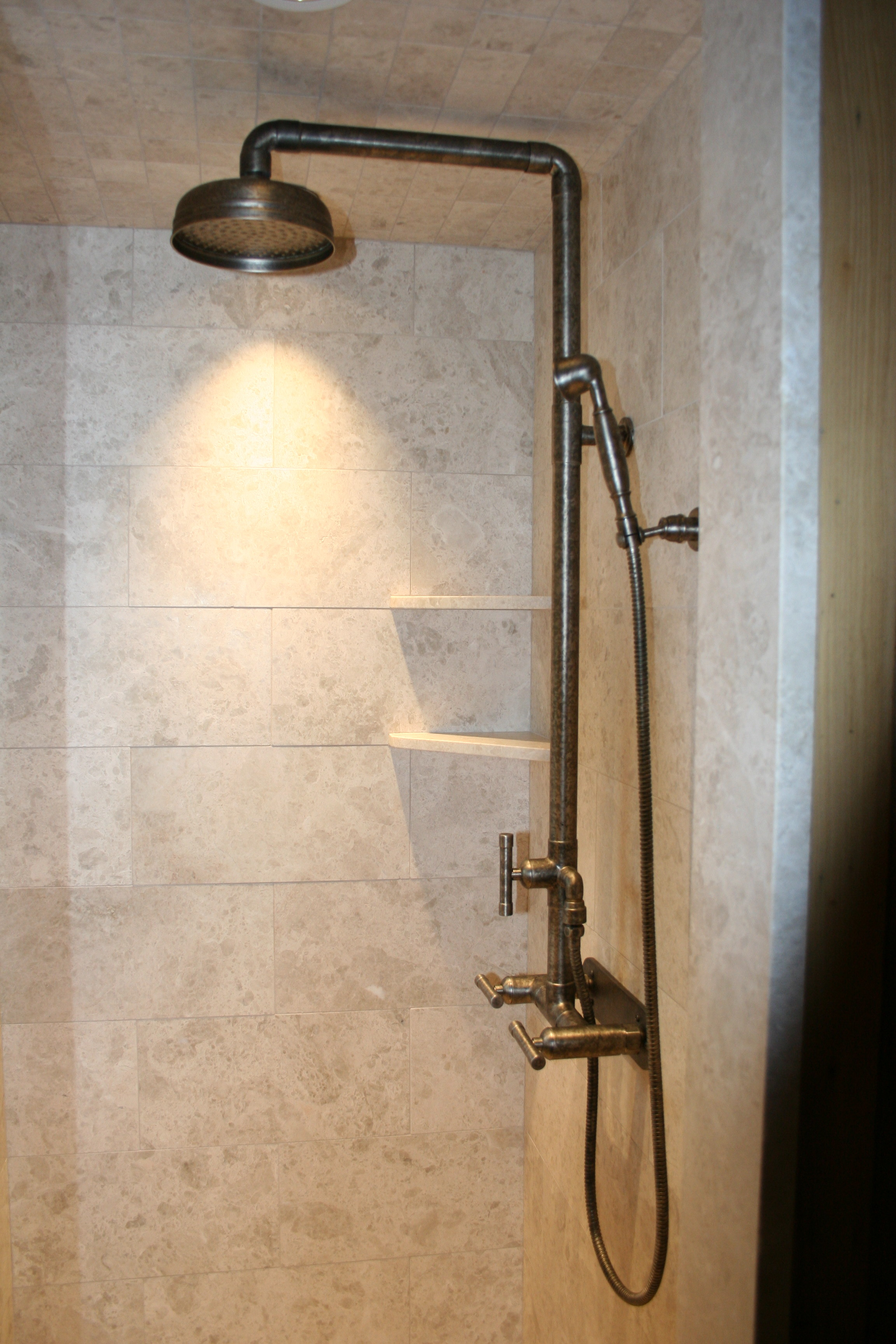 Exposed Pipe Shower | Home Decor & Renovation Ideas